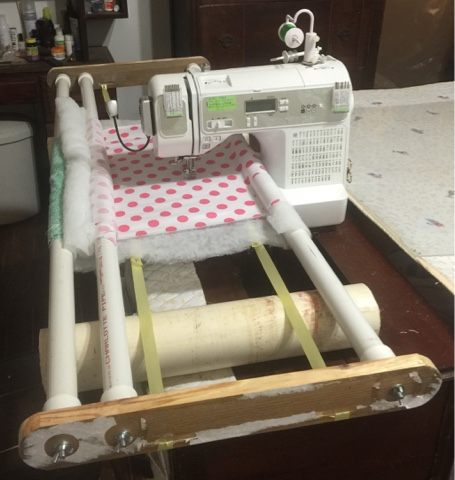 The Feisty Quilter Diy Free Motion Quilting Frame