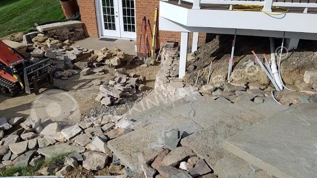 Dry Laid Stone Steps