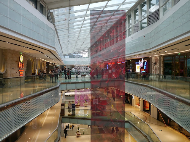 inside of Kaifu Wanda Plaza in Changsha, China