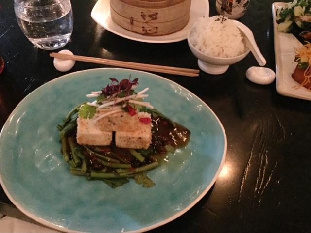 Vegan Food chilli crusted tofu
