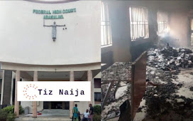 A group of Unidentified Persons sets Federal High Court ablaze in Abakiliki