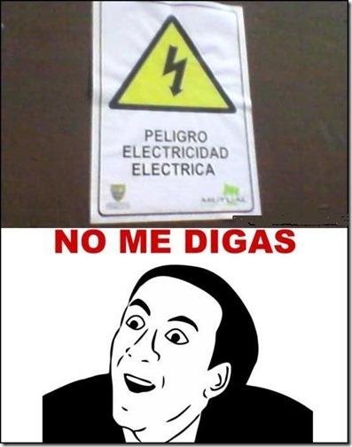 aviso electricidad