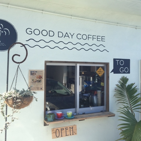 Good Day Coffee in Sunabe is an Australian Style Cafe with a delicious menu and open from 6am-3pm everyday except Monday