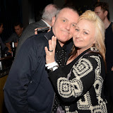 WWW.ENTSIMAGES.COM -   Dave Cairns of Secret Affair and Zoie Wainwright (Publicist ) at     Gary Bushell - Face Down The book Launch Party at Golden Bee Singer Street London October 16th 2013                               Photo Mobis Photos/OIC 0203 174 1069