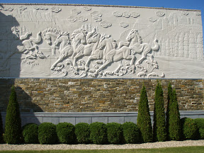Architecture, Carved Relief, Exterior, Horse, Relief, Showroom