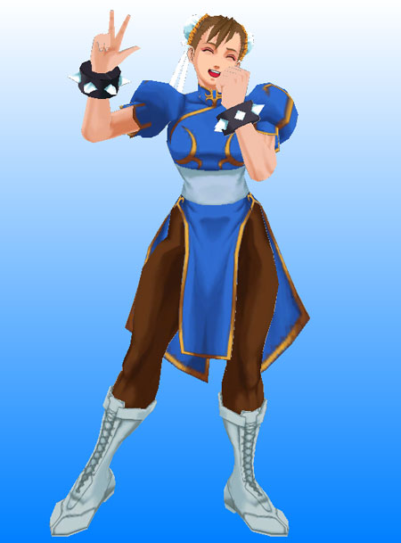 Street Fighter Papercraft Chun Li