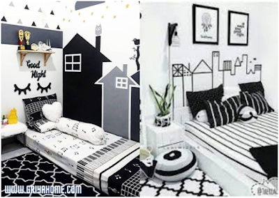 kamar anak warna putih