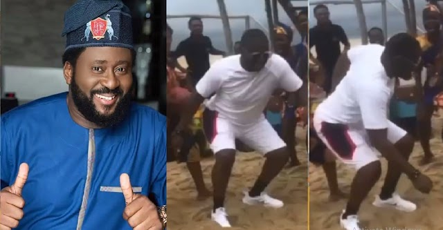 Desmond Elliot Spotted Dancing Despite Nigerians Blaming Him For Everything Going Wrong In The World (Video)