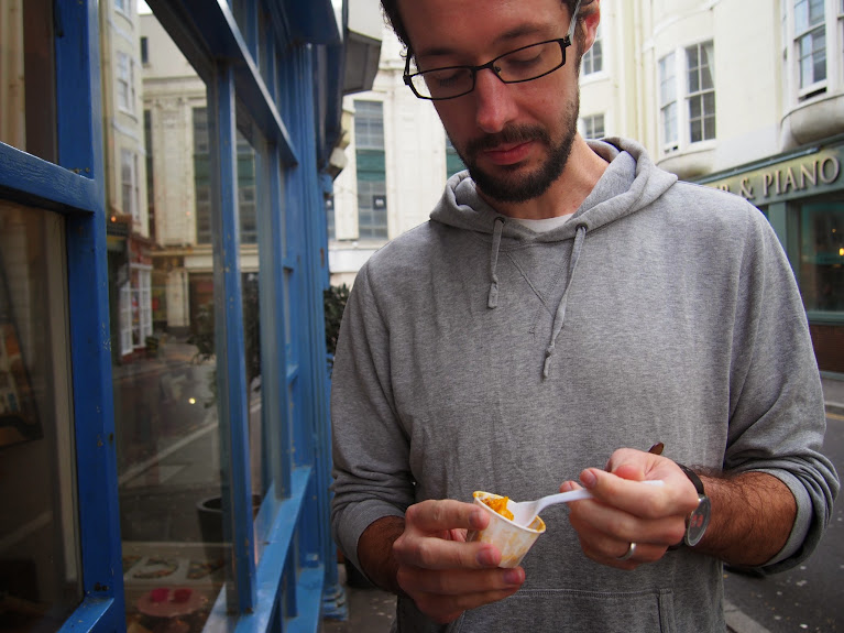 jon and paella brighton food trail 2014