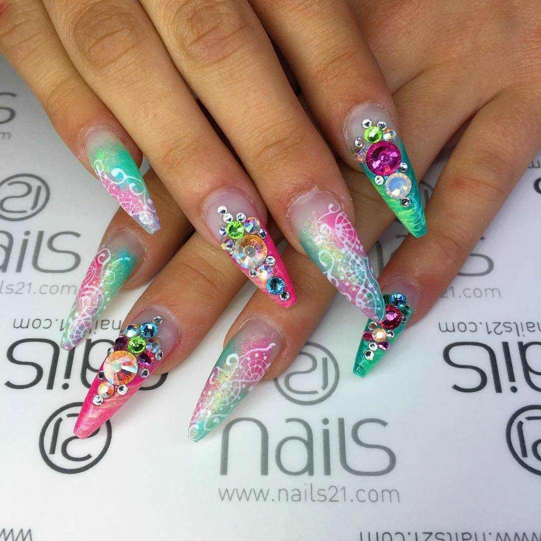 Colorful Nail Art: Trendy Colorful Nail Art Designs 2016 2017