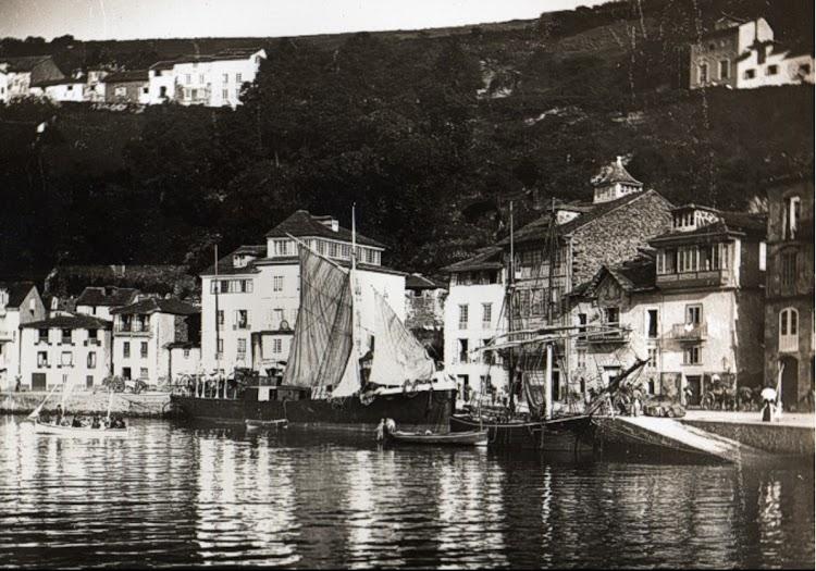 El vapor CANOSA en Luarca. Ca. 1887. Foto de la web Gabitos.tif