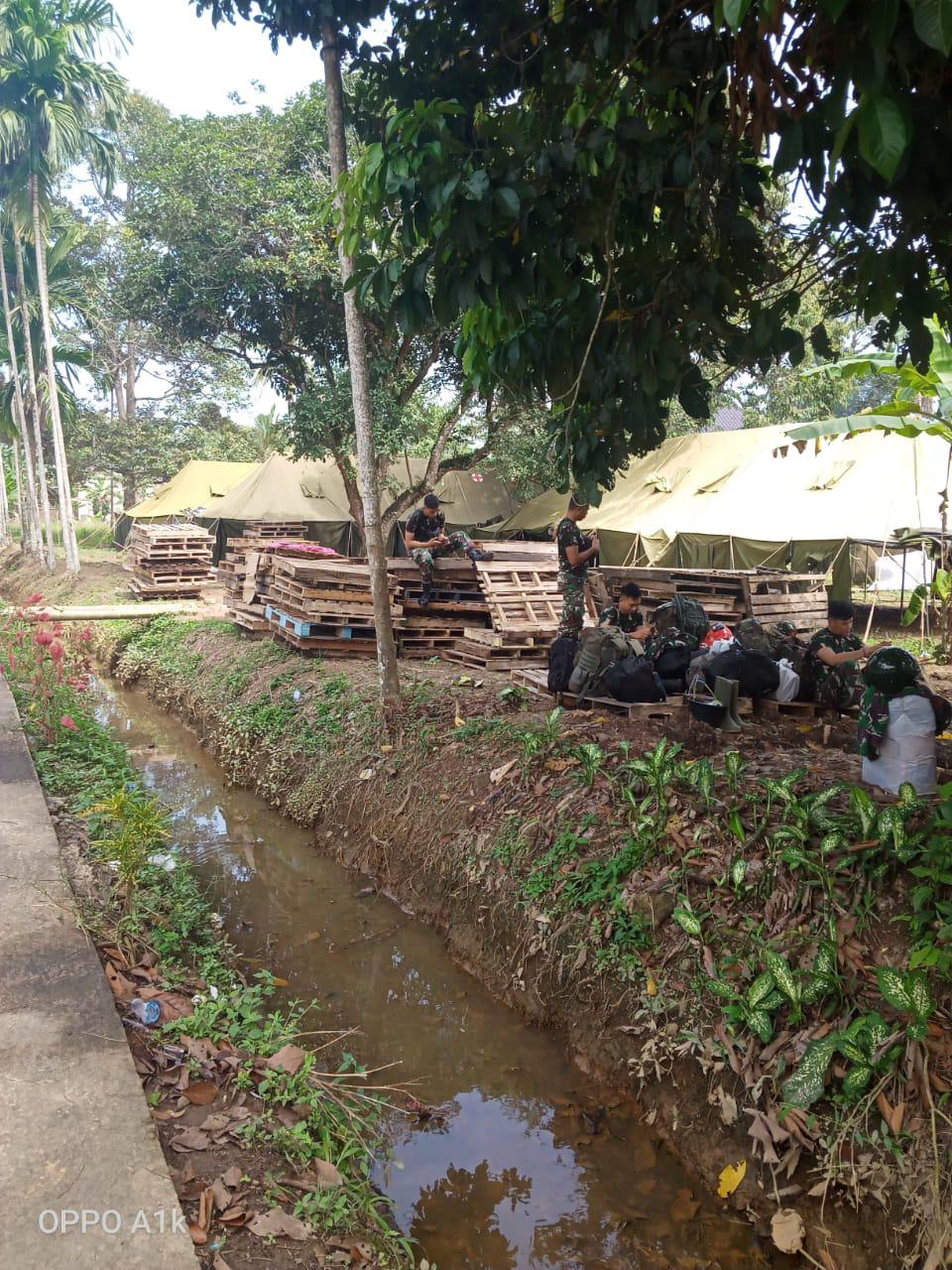 Hari terakhir kegiatan TMMD di kampung Jawi, satgas mulai kemasi batang barang pribadinya.