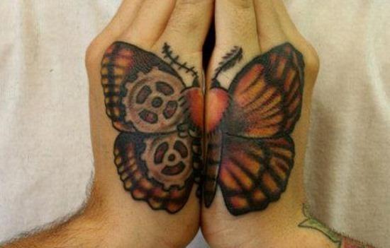 legal_steampunk_borboleta_mo_da_tatuagem