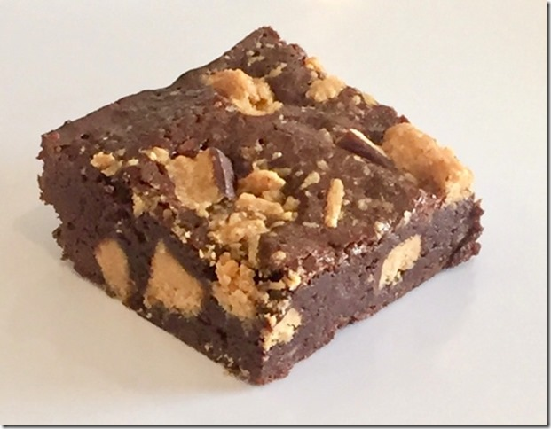 Healthy Butterfinger Brownies
