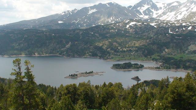 El lago de las Boullosas desde arriba