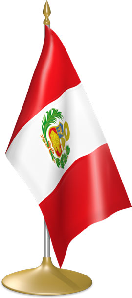 Peruvian table flags - desk flags