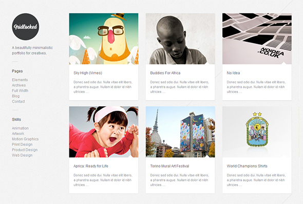 Gridlocked Responsive WordPress Theme