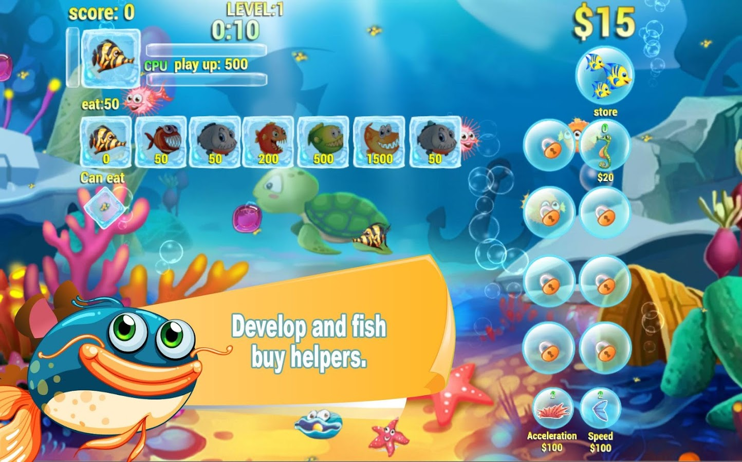 Hungry fish eat hd android apps on google play for Hungry fish game
