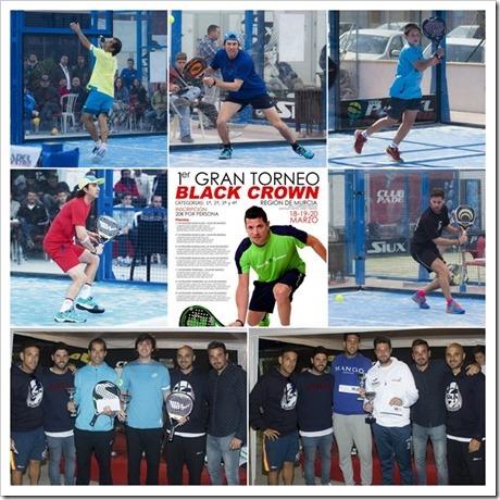 Finaliza con éxito el Gran Torneo Black Crown Región de Murcia 2016: Blanco y Ramos campeones.
