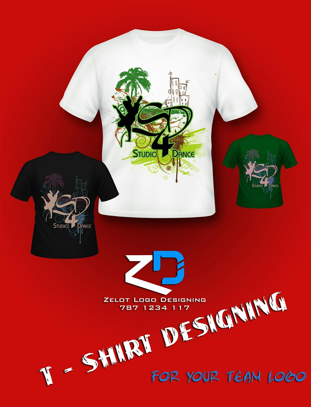 T Shirt Design Zelot Studio,Salon Interior Design Ideas