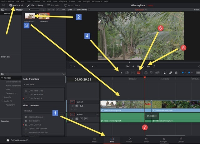 davinci-resolve-tagliare-video