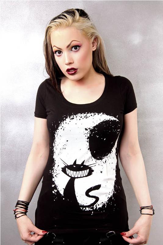 vampire freaks, akumuink, emo tshirts, vampirefreak shirt, black tee, horror t-shirt, halloween tshirt, cheshire cat shirt, black cat tshirt, cat moon shirt, moon shirt