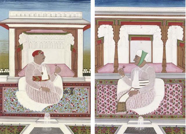 Nizam Sikandar Jah (r.1803-29), seen in two court settings