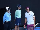 Federer beboet voor vloeken tijdens zijn wedstrijd  tegen  Sandgren