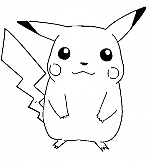 Pikachu Coloring Pages Free
