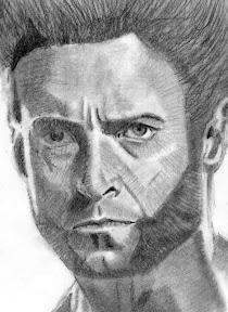 Wolverine kézi rajz
