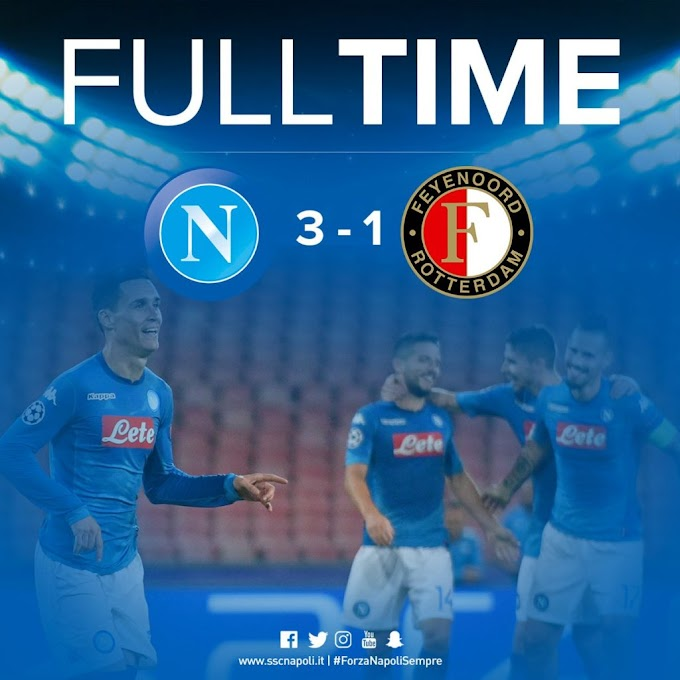 Video: SSC Napoli 3 – 1 Feyenoord [Champions League] Highlights 2017/18