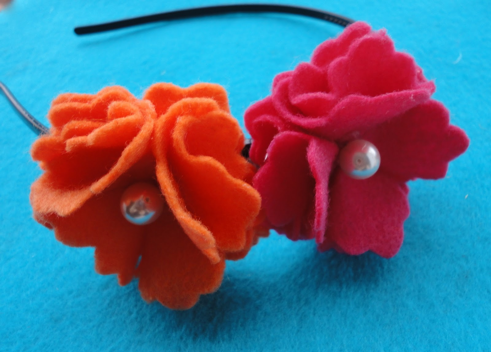 Blissful Meandering Pink And Orange Flower Headband