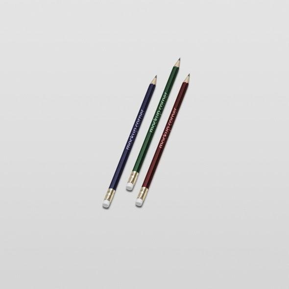 full colors pencil mock-ups