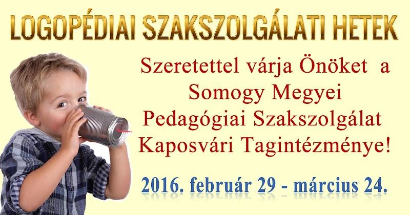 Logopédiai Szakszolgálati Hetek - Kaposvár 2016