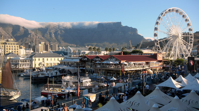 Cape Town waterfront with Table Mountain in background