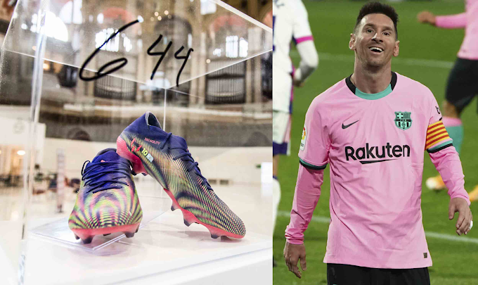 Lionel Messi's Iconic Record-breaking Boots Auctioned For £125,000