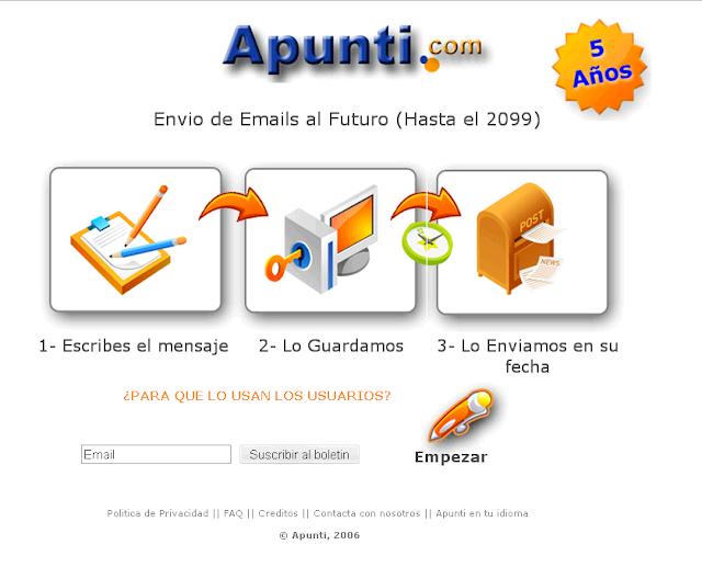 Enviar mensajes al futuro