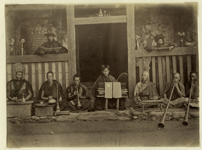 Buddhist Monks of Bhutan - 1880's