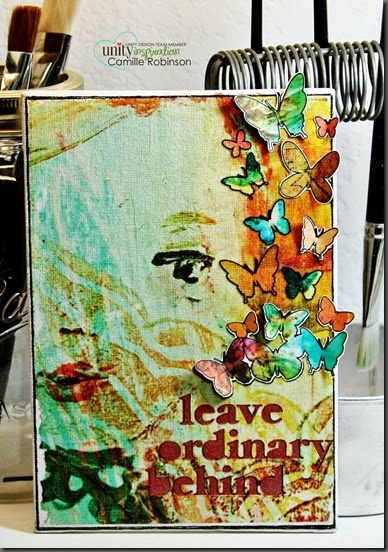 leave ordinary behind canvas with sig