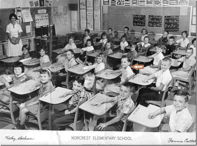 GOULD_Norm & his 3rd grade class at Norcrest Elementary 1960-61_PompanoBchBrowardFL_annot