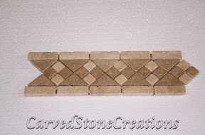 Border, Flooring, Flooring & Mosaics, Interior, Mosaic, Natural, Stone, Travertine
