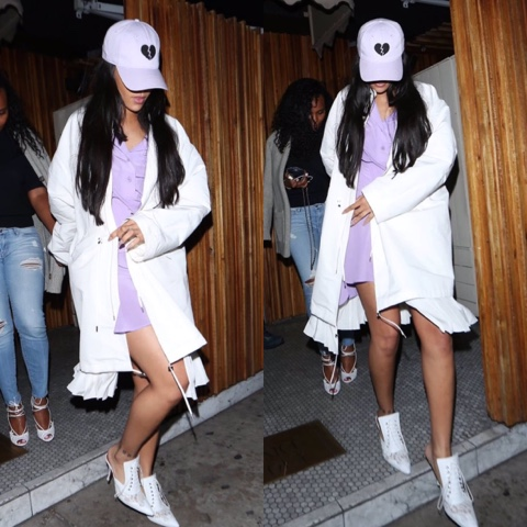 Rihanna wears Harding Lane Heart Hat