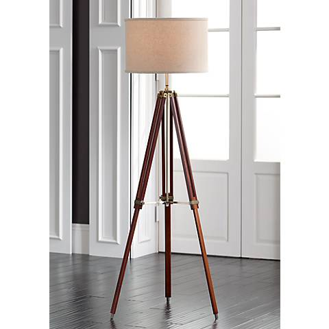 tripod cherry floor lamp