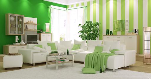 saja antara warna hijau yang agak tua dengan warna cat hijau muda hal ...