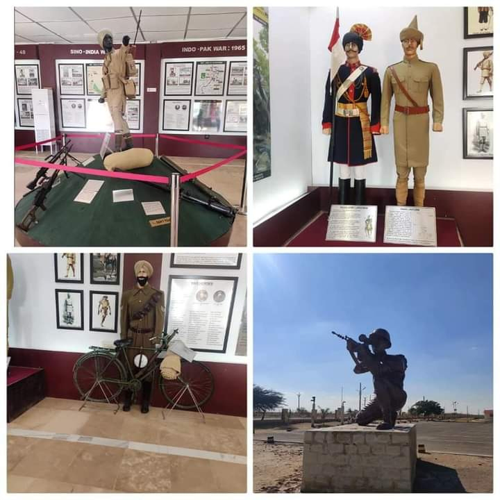 Indian army hall in Jaisalmer war museum