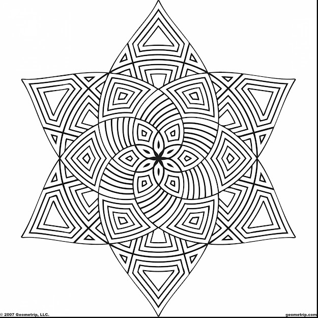 Awesome Geometric Design Coloring Pages Printable With Free Geometric Coloring  Pages And Free Geometric Coloring Pages