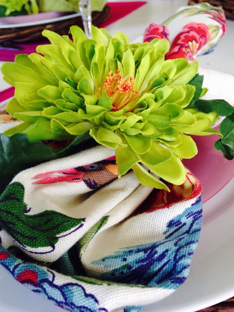 The Style Sisters Magazine And A Flower Napkin Ring Tutorial The