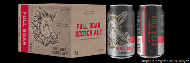 Devil's Canyon Brewing Adding Full Boar Scotch Ale Cans
