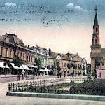 008-Losonc_Kossuth-szobor_(képeslap-Kubinyi-tér).jpg