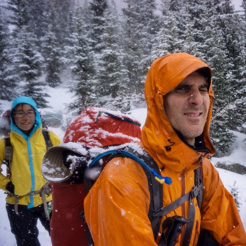 Backpacking in the Rocky Mountain National Park. In snow. Fun. (Not really)